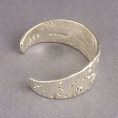Cody Sanderson Forged and Stamped Fine Navajo Silver Cuff