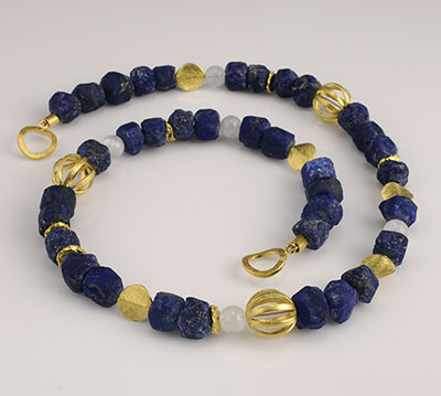 Lapis Lazuli and Vermeil necklace