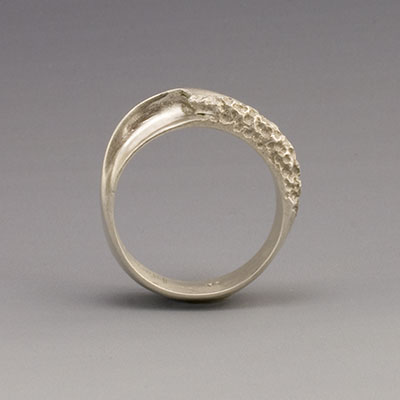 silver breaking wave ring