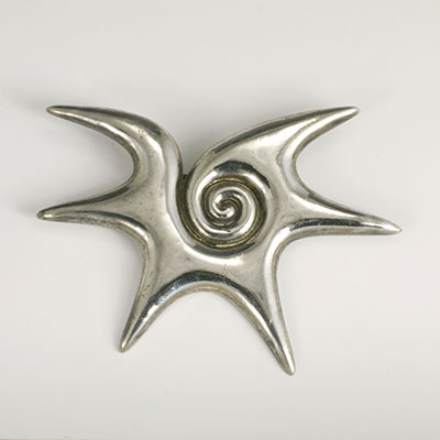 William Spratling Silver Choluteca Conch Cross Section Pin - for sale