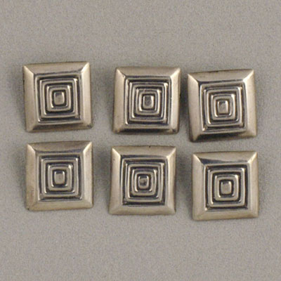 Margot de Taxco square sterling silver buttons
