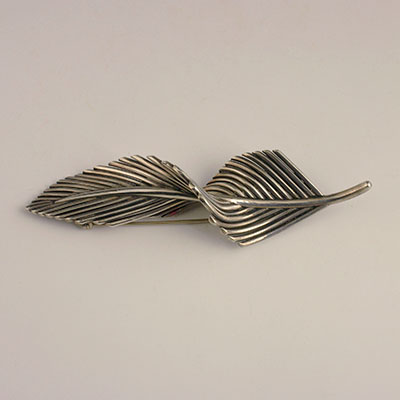 Antonio Pineda silver feather pin