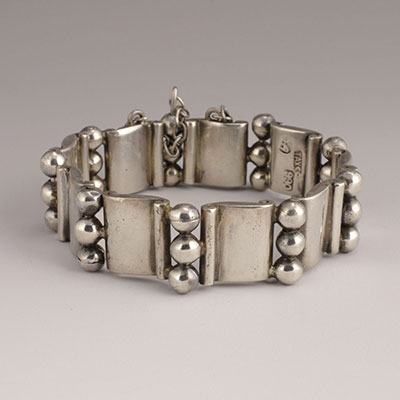 Hector Aguilar Silver Book and 3 Beads Bracelet